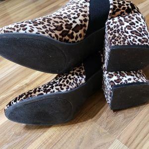 Shoes - Stylish Leopard Print Boots Sz 10